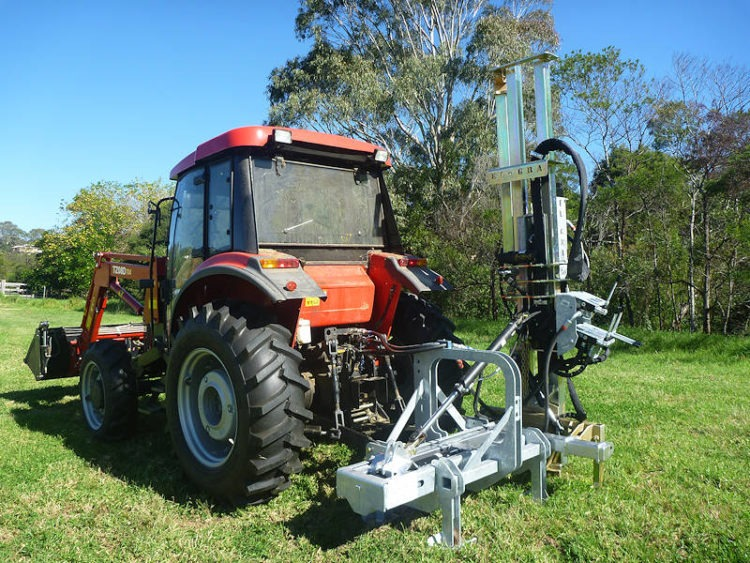 Post Driver for tractor mounting with 3pl