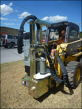 Post Driver for use on Telehandler