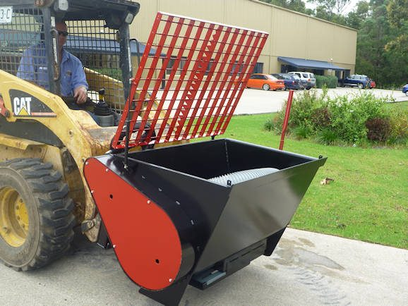 Skid Steer Excavator Mounted Hydraulic Concrete Mixer